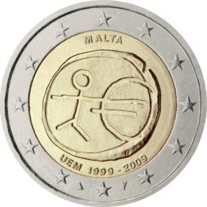 2009, Мальта, серия «10 лет Экономическому и валютному союзу»
