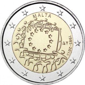 2015, Мальта, серия «30 лет флагу Европы»