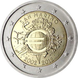 2012, Серия «10 лет наличному обращению Евро»