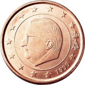 2 евроцента, Бельгия, тип 1