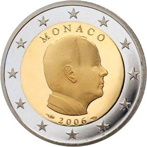 2 евро, Монако, тип 2, 2016