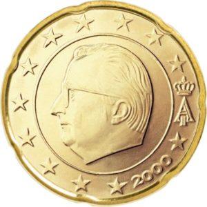 20 евроцентов, Бельгия, тип 1