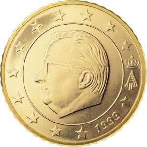 50 евроцентов, Бельгия, тип 1