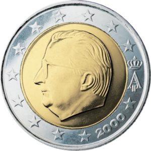 2 евро, Бельгия, тип 1