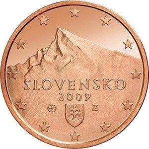 2 евроцента, Словакия