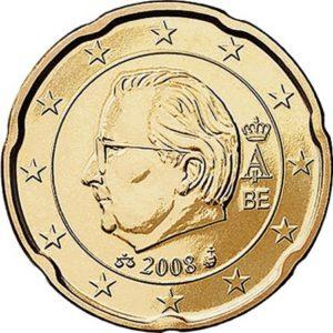 20 евроцентов, Бельгия, тип 2, 2008