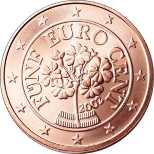 1 евроцент, Австрия