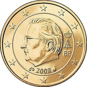 50 евроцентов, Бельгия, тип 2, 2008