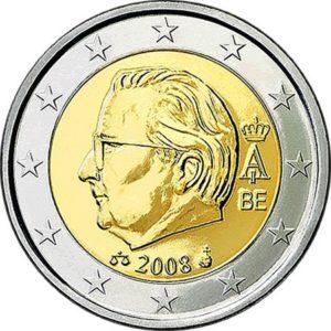 2 евро, Бельгия, тип 2, 2008