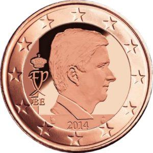 2 евроцента, Бельгия, тип 4, 2015