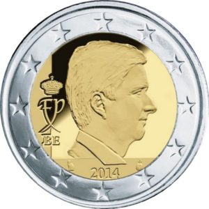 2 евро, Бельгия, тип 4, 2019