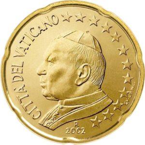 20 евроцентов, Ватикан, тип 1