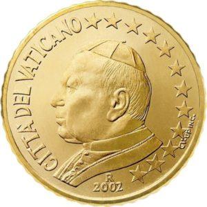 50 евроцентов, Ватикан, тип 1