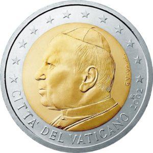 2 евро, Ватикан, тип 1
