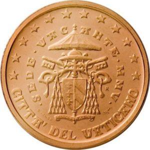 2 евроцента, Ватикан, тип 2