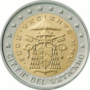 2 евро, Ватикан, тип 2