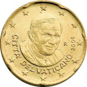 20 евроцентов, Ватикан, тип 3