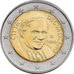 2 евро, Ватикан, тип 3
