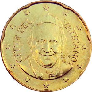 20 евроцентов, Ватикан, тип 4