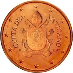 2 евроцента, Ватикан, тип 5
