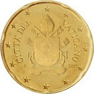 20 евроцентов, Ватикан, тип 5