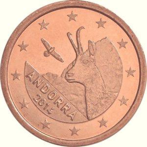 1 евроцент, Андорра, 2017