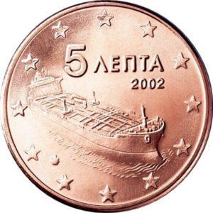 5 евроцентов, Греция
