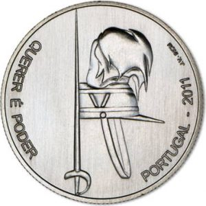2,5 евро, 2011, 100 лет Военной академии, Португалия
