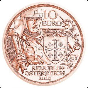 """10 евро, Приключение, 2019, Австрия (серия """"В кольчуге и с мечом"""")"""