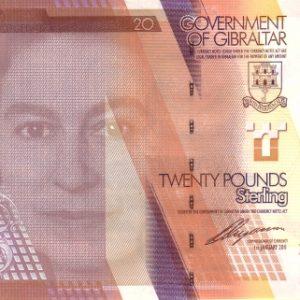 20 фунтов, Гибралтар, 2011