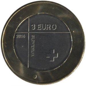 3 евро, Словения, 2016, 150 лет Красному Кресту Словении