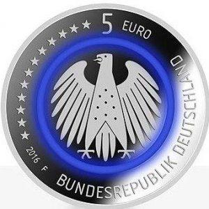 5 евро, Германия, Планета Земля, 2016