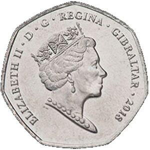 50 пенсов, Гибралтар, Calp House, 2018