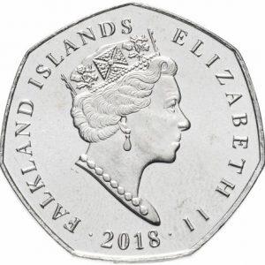 50 пенсов, Magellanic Penguin, Фолклендские острова, 2018