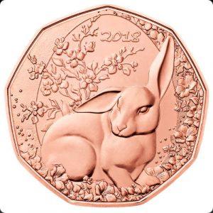 5 евро, Пасхальный кролик, 2018, Австрия