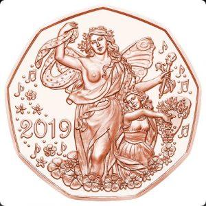 5 евро, Новый Год, 2019, Австрия