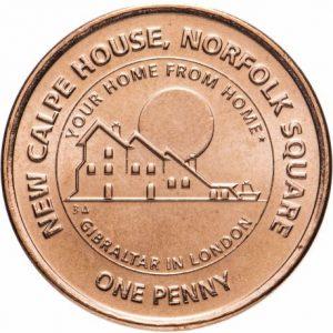 1 пенни, Гибралтар, Calpe House, 2018