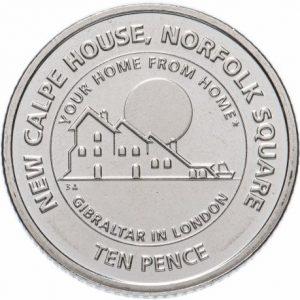10 пенсов, Гибралтар, Calp House, 2018