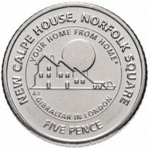 5 пенсов, Гибралтар, Calp House, 2018