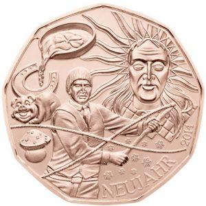 5 евро, Новый Год, 2014, Австрия