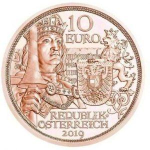 """10 евро, Благородство, 2019, Австрия (серия """"В кольчуге и с мечом"""")"""