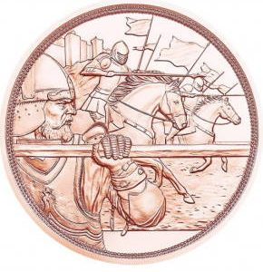 10 евро, Отвага, 2020, Австрия (серия «В кольчуге и с мечом»)