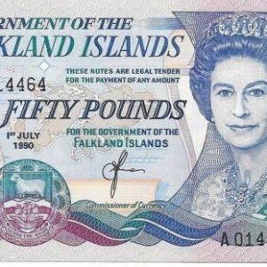50 фунтов, Фолклендские острова, 1990