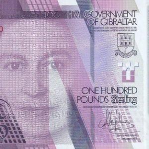 100 фунтов, Гибралтар, 2015