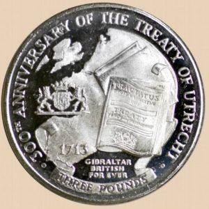 3 фунта, Гибралтар, 300 лет Утрехтскому договору, 2013