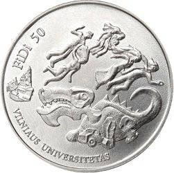 1,5 евро, Литва, 2018, 50 лет Дню физики (FiDi)