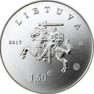 1,5 евро, Литва, 2017, Литовская гончая и жемайтская лошадь
