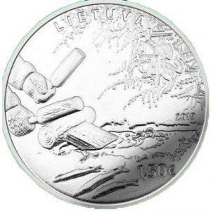 1,5 евро, Литва, 2019, Ловля корюшки традиционным способом заманивания