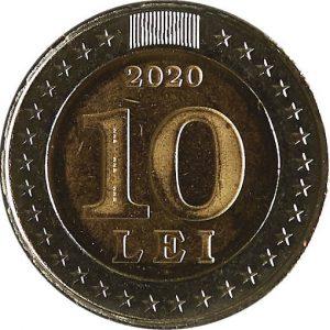 10 лей, 2020, Молдова, 30 лет государственному флагу