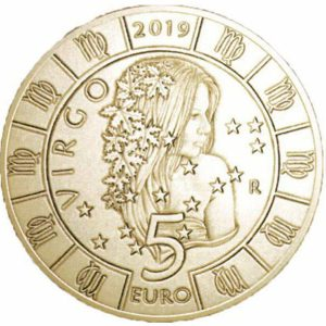 5 евро, Сан-Марино, 2019, Дева, Серия Знаки Зодиака